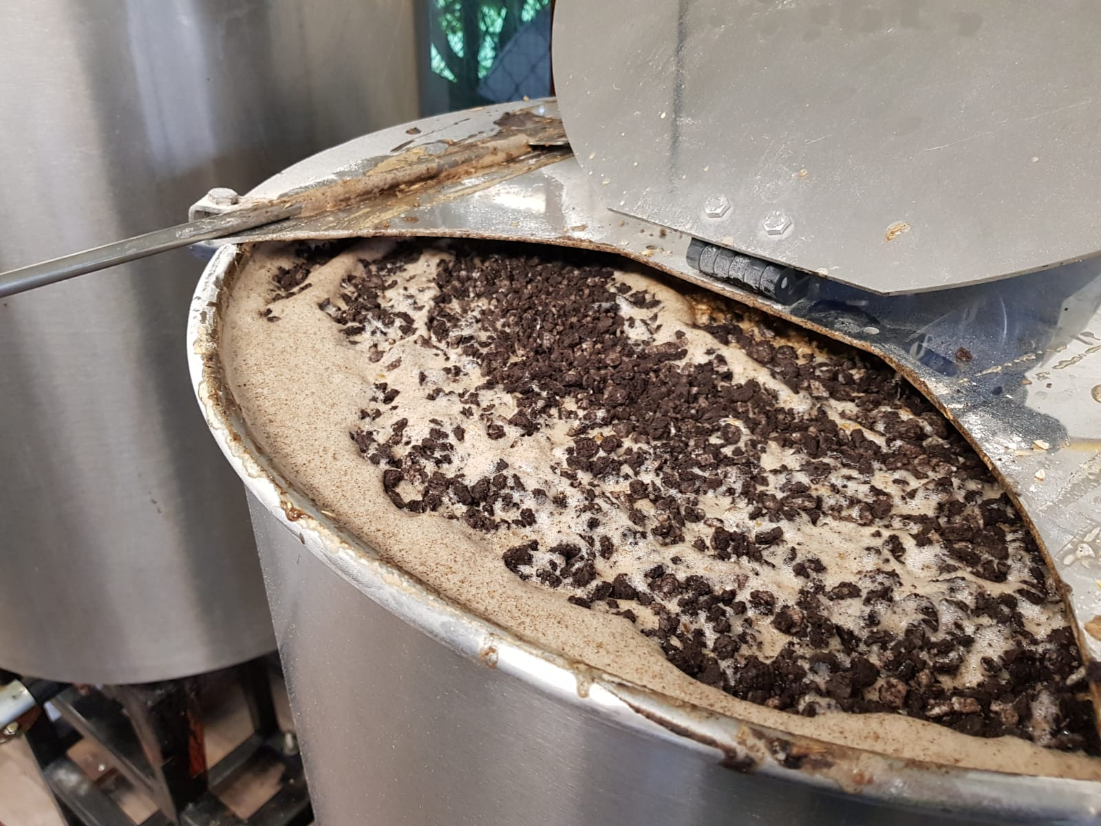 Oreo pastry cookie Stout in de brouwketel