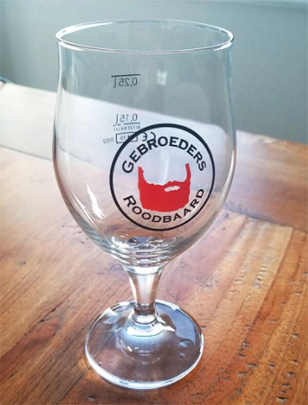 Roodbaard Glas 25 cl bedrukt